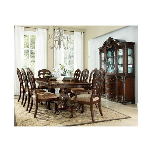 Deryn Park 8 Pc Formal Dining Room with Matching China Cabinet by Homelegance, Model 2243