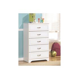 Lulu Five Drawer Chest White