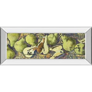 """Sparkling Pears Il"" By Silvia Rutledge Mirror Framed Print Wall Art"