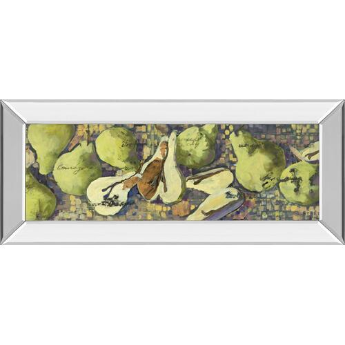 "Classy Art - ""Sparkling Pears Il"" By Silvia Rutledge Mirror Framed Print Wall Art"