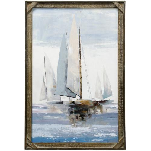 Style Craft - SAILING SEAS  24in X 36in  Made in the USA  Textured Framed Print