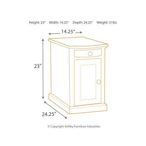 Signature Design By Ashley - Laflorn Chairside End Table With Usb Ports & Outlets