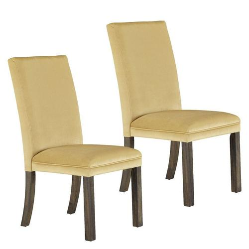 Standard Furniture - Trenton 2-Pack Upholstered Side Chairs, Yellow