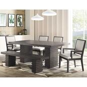 Mila 6 Piece Set (Table, Bench & 4 Side Chairs)