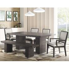 Mila 6 Piece Set (Table, Bench, 2 Arm Chairs & 2 Side Chairs)