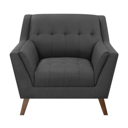 Emerald Home Furnishings - Modern Chair in Charcoal Fabric