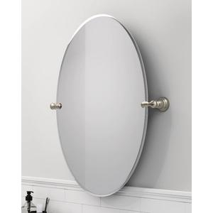 Banbury brushed nickel mirror