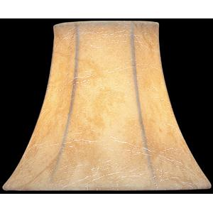 """Candelabra Shade/faux Leather Bell - 3""""tx6""""bx5""""sl"""