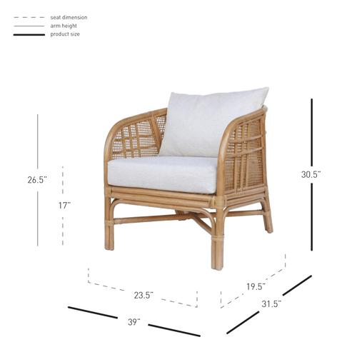 Product Image - Ferrara Rattan Accent Arm Chair, Canary Brown