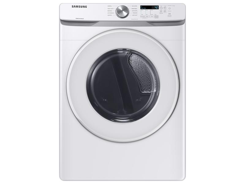 Samsung7.5 Cu. Ft. Electric Long Vent Dryer With Sensor Dry In White