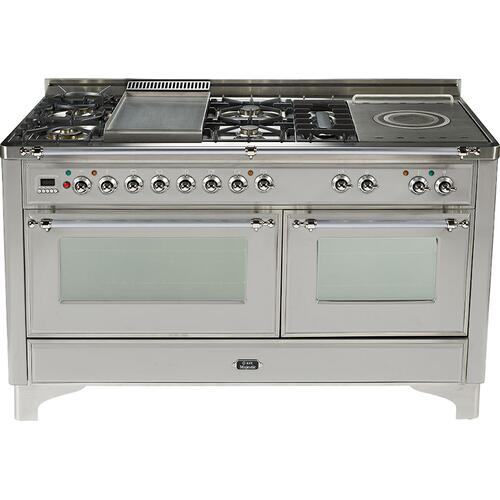 Gallery - Stainless Steel with Chrome trim - Majestic 60-inch Range with Griddle