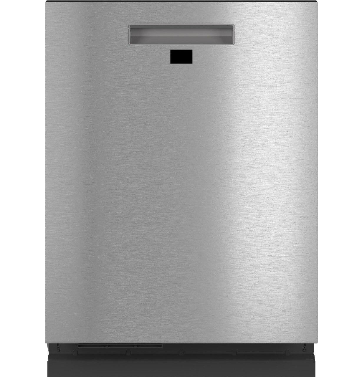 CafeSmart Stainless Steel Interior Dishwasher With Sanitize And Ultra Wash & Dual Convection Ultra Dry In Platinum Glass