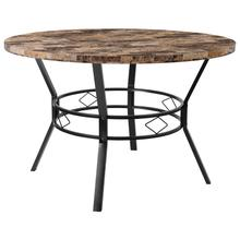 "Tremont 47"" Round Dining Table in Swirled Marble-Like Finish"