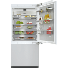 KF 2902 Vi - MasterCool™ fridge-freezer with high-quality features and maximum storage space for exacting demands.
