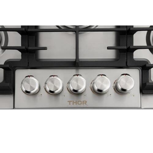 Thor Kitchen - 30 in. Gas Cooktop in Stainless Steel with 5 Burners
