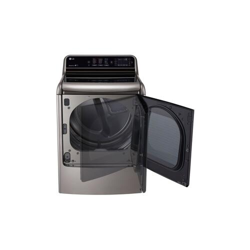 LG - 9.0 cu. ft. Mega Capacity TurboSteam™ Dryer with EasyLoad™ Door