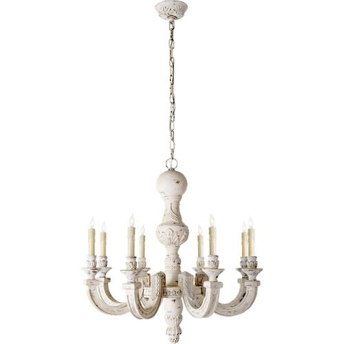 Visual Comfort AH5025BW Alexa Hampton Dexter 8 Light 30 inch Belgian White Chandelier Ceiling Light