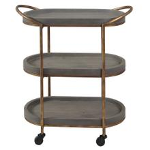 SLATE TIER  28in w. X 32in ht. X 14in d.  Three Tier Serving Cart with Rolling Casters