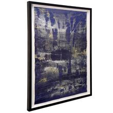 Lawrence Crane II  36in X 46in  Hand Painted Abstract on Water Color Paper  Framed Under Glass