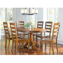 Oval Extension Pedestal Table