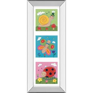 """Garden Party I"" By Sophie Harding Mirror Framed Print Wall Art"