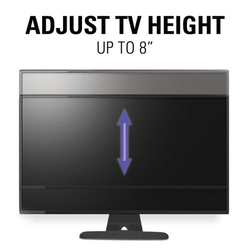 "Black Swivel TV Base for 32""-65"" TVs Designed to be Sonos PLAYBASE Compatible"