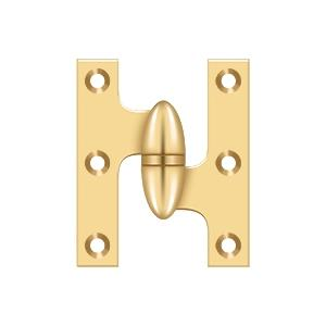 "2 1/2"" x 2"" Hinge - PVD Polished Brass Product Image"
