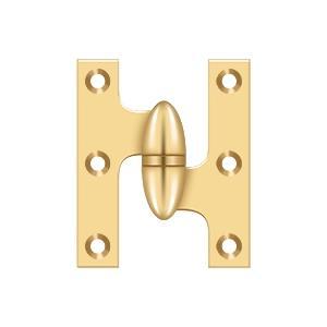"Deltana - 2-1/2"" x 2"" Hinge - PVD Polished Brass"