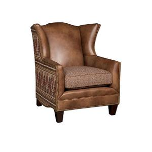 Athens Leather/Fabric Chair, Athens Ottoman