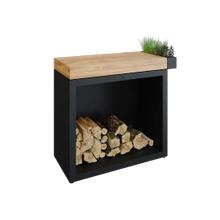 View Product - OFYR Butcher Block Storage 90 Black Teak Wood