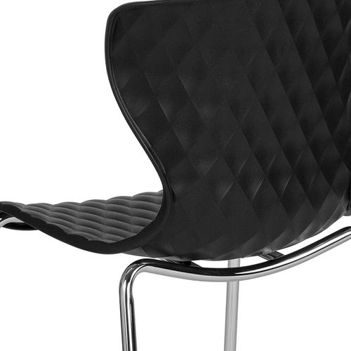 Flash Furniture - Lowell Contemporary Design Black Plastic Stack Chair