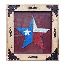 Red Painted Texas Star