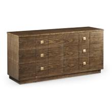 Berkley Walnut Dresser with Six Drawers