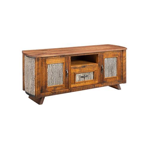 Mossy Oak Carver Point TV Stand White Bark Walnut Top