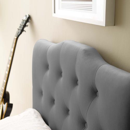 Modway - Annabel Twin Diamond Tufted Performance Velvet Headboard in Gray