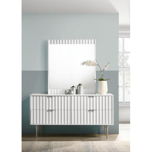 """Meridian Furniture - Modernist Mirror - 37"""" W x 1.5""""D x 42.5""""H"""