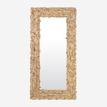 Miranda Knotted Abaca Floor Mirror, Natural