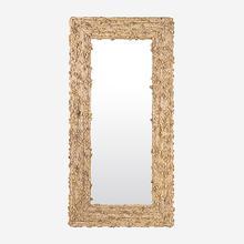 Miranda Knotted Abaca Floor Mirror, Natural