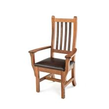 See Details - Heritage Arm Chair With Leather Seat
