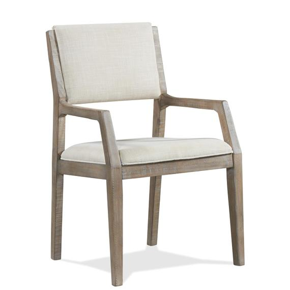 Riverside - Intrigue - Upholstered Arm Chair - Hazelwood Finish