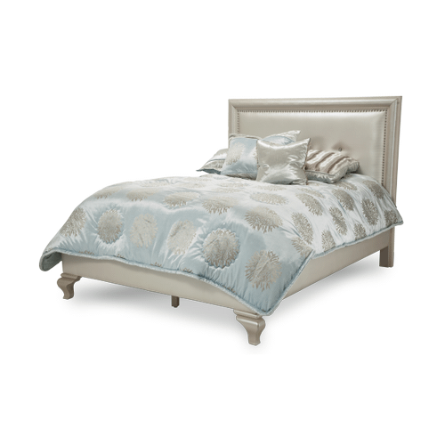 After Eight Studio Cal King Bed (3 pc) Creamy Pearl