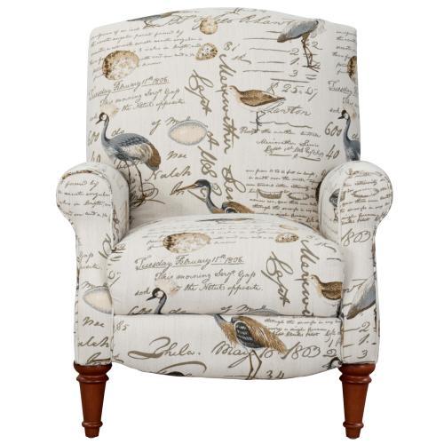Bird Script Pushback Recliner