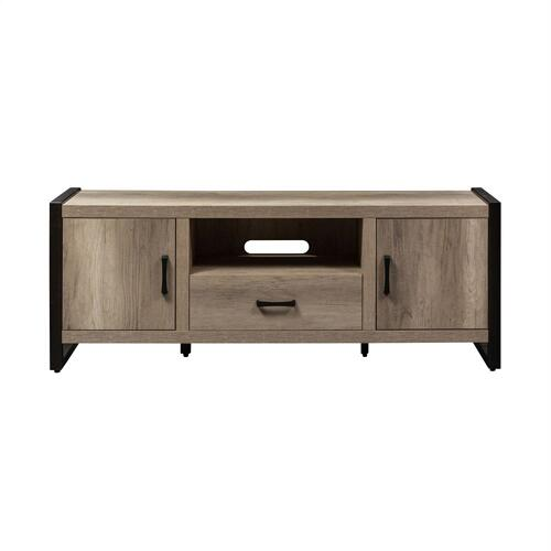 64 Inch TV Console w/ Faux Metal