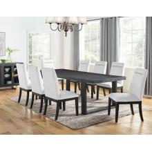 Yves 9 Piece Dining Set (Table & 8 White Performance Side Chairs)