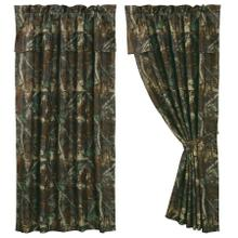 Oak Camo Brown U0026 Green Curtain (pair) W/ Valance
