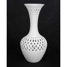 Ceramic White Vase 17H 2-Pack