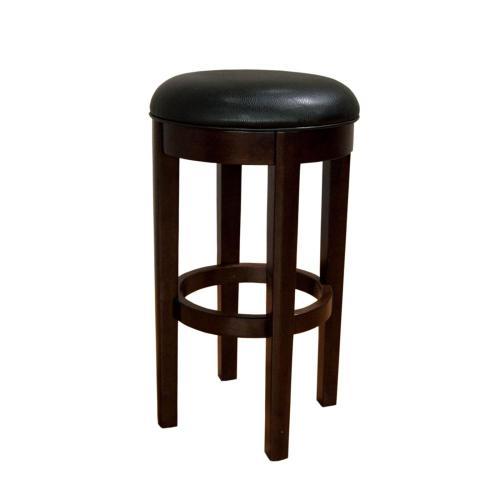 30 Seat Height Swivel Stool-Black
