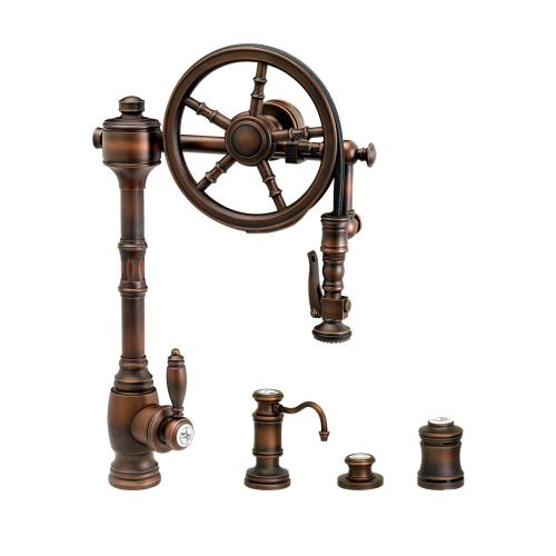 Wheel Pulldown Faucet 4pc. Suite - 5100-4 - Waterstone Luxury Kitchen Faucets