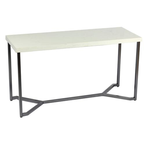 Emerald Home Kiara T533-02 Sofa Table Rta With Marble Top