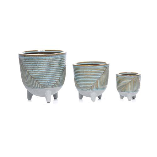 Jetson Groove Cachepot - Set of 3